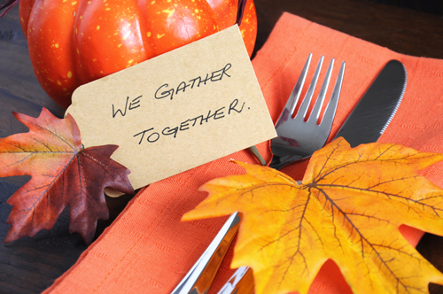 6 Tips for Your First Sober Thanksgiving - thanksgiving place setting
