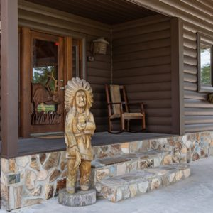 170601-Chris-and-Cami-Photography-0005 - view of front door area with wooden native american statue