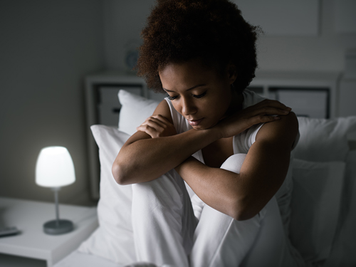 Coping with Insomnia in Recovery - woman with insomnia