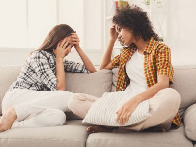 7-Tips-for-Talking-Your-Loved-One-About-Addiction - two women talking on couch