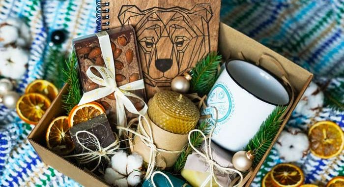 nice gift set with candle, journal, soap, and other items - gifts for people in recovery